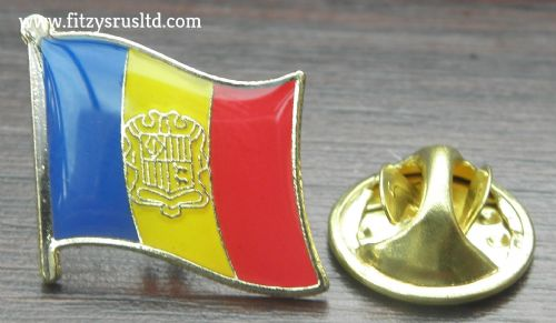Andorra Country Flag Lapel Hat Cap Tie Pin Badge Principat d'Andorra Brand New